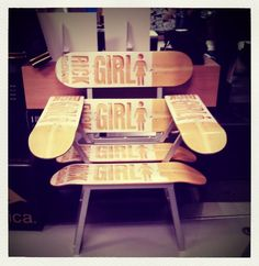 GIRL skateboard design #chair #sk8 #board
