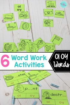 Students will have fun learning vowel digraphs, such as OI and OY, with these 6 word work spelling activities such as word sorts, and building words. Ideal for literacy centers, or Daily 5.