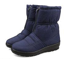 236a642bdc4 Sfnld Women s Warm Fully Fleece Lining Winter Shoes Snow Ankle Boots Black  4 B(M) US