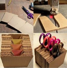 How cool is this quirky cardboard side table For The Home from