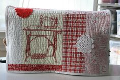 https://flic.kr/p/jXprrK   sewing machine cover   My brand new sewing machine (Janome) needed a brand new cover so I dived into my stash and pulled out this vintage piece of sewing machine embroidery that I have had for ages (20 years?) and I am pleased that I could put it to good use. All hand quilted by the way!