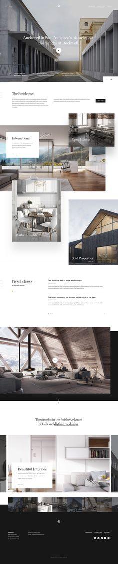 Architecture website design.