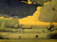 Eagle County in the Fall 2002 by Russell Chatham, Limited Edition Print, Lithograph