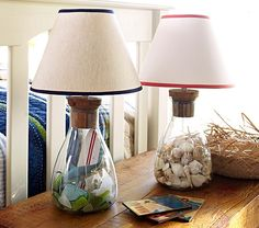 lamps with a fillable glass base looks great filled with. Black Bedroom Furniture Sets. Home Design Ideas