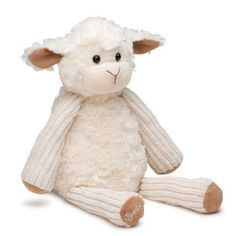 """Lenny the Lamb Scentsy Buddy    Sweet and soft, Lenny the Lamb is 5.5"""" wide, 9.5"""" tall when seated, and 15.5"""" tall from head to toe. He comes alive with fragrance when you place a Scent Pak in the zippered pocket in his back."""