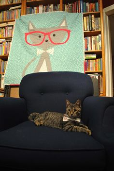 The Iron & Needle: A Hipster Cat Quilt for Oliver