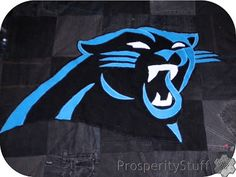 ProsperityStuff Quilts: Carolina Panthers Black Jeans Quilt