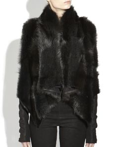 Rick Owens Hun Pekan and Wool Jacket