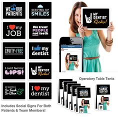 My Social Practice | Social Signs Provide Fun Social Media For Dentists! (download 3 printable PDFs for free)