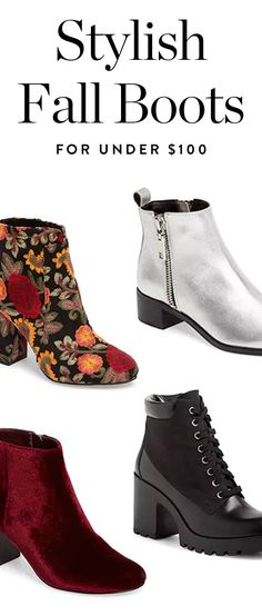 Stylish Fall Boots for Under $100 via @PureWow