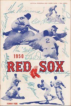 1950 Red Sox Program