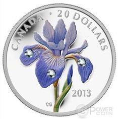 The flower immortalized as the fleur-de-lys symbol of Quebec is not a lily, as many people believe, butIris versicolor —the Blue Flag Iris. This coin was designed by Canadian artist Celia Godkin and features the open blossom of a beautiful Blue Flag Iris. Silver Investing, Canadian Things, Buy Gold And Silver, Blue Flag, Canadian History, Silver Coins, Mint Coins, Rare Coins, Coin Collecting