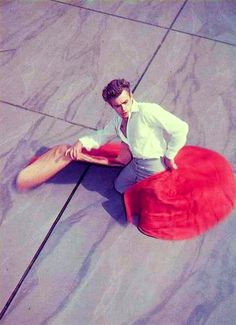 jamesdeaner: He loved the grace of the matadors, the way they made a kind of dance out of the sparring with the bull, how clean and beautiful it was, how much courage it took… - Jim McCarthy on James Dean