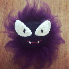 PokemonGo! Gastly (Pokemon #092 Fantominus) free amigurumi crochet pattern