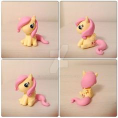 Made of polymer clay. Details painted with acrylics. UPDATE - gave her a new look: blondy1999.deviantart.com/art/… Fluttershy and My Little Pony are trademarks of Hasbro.