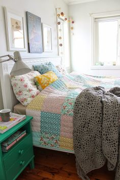 bedding- Aubies bed.  Maybe add touch of prints to our bedding as well??
