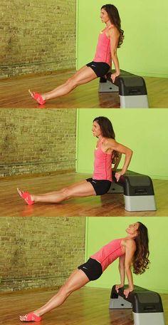 Triceps dip to reverse plank