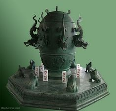 Seismograph by Chinese astronomer Zhang Heng, 2nd century A.D.