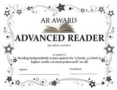 A teacher made quick guide to the certificate levels in million word accelerated reader award google search yadclub Choice Image