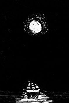 Moonlit clipper.