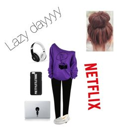 """Lazy day"" by maliamae on Polyvore featuring George, UGG Australia, Beats by Dr. Dre and Vinyl Revolution"