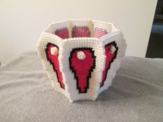 Basket in Plastic Canvas by CraftsforSalebyJune on Etsy