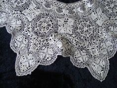 Charming Unused Antique Silk Maltese Bobbin Lace Collar | eBay