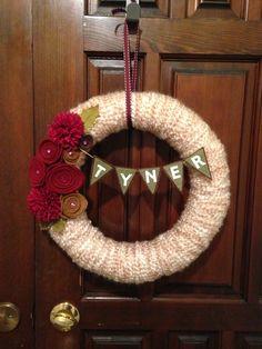 Yarn and felt wreath do this with twine instead of yarn.