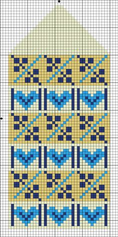This Pin was discovered by Юли Knitted Mittens Pattern, Fair Isle Knitting Patterns, Knit Mittens, Knitting Charts, Knitting Designs, Knitting Stitches, Knitting Projects, Crochet Chart, Crochet Patterns