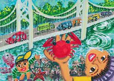 ||| Painting For Kids, Art For Kids, Folk, Contemporary, Children, Drawings, Creative, Illustration, Artist
