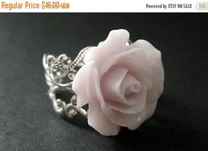 MOTHERS DAY SALE Pale Purple Rose Ring. Purple Flower Ring. Filigree Ring. Adjustable Ring. Flower Jewelry. Handmade Jewelry. by StumblingOnSainthood from Stumbling On Sainthood. Find it now at http://ift.tt/2pPEcvo!