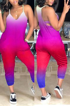 Details: Material: Polyester Style: Casual Fit Type: Loose Elastic: Yes(Elastic) SIZE(IN) US Bust Waist Hip Pants Length S M L 8 XL 10 Tips: Due to the many variations in monitors, the color in the image could look slightly diff Buy Cheap Shoes Online, Fashion Pants, Fashion Outfits, Red One Piece, Teen Girl Fashion, Casual Jumpsuit, Chic Outfits, Nike Outfits, Swagg