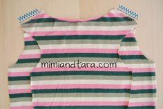 Sew pajamas shoulders