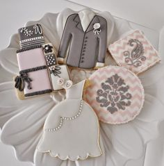 Inspiração_Cookies_Casamento_Formato_Vestido_