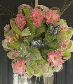 mesh wreaths   deco, mesh, wreath, trendy