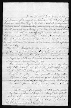 Amanuensis Monday - Will of Mary C. Baynard #genealogy #familyhistory