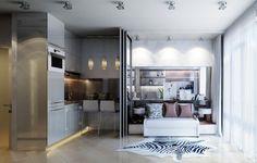 kleines Einzimmer-Appartement mit mädchenhaftem Charme