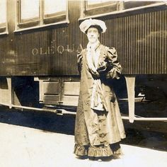 Charlotte Perkins Gilman on Seattle Suffrage Trip, CA, 1900