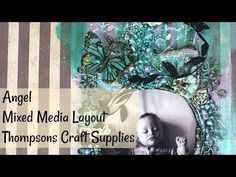 Angel | Scrapbook Layout | Thompsons Craft Supplies - YouTube Media Kit, Craft Supplies, Mixed Media, Layout, Angel, Scrapbook, Crafty, Make It Yourself, Videos