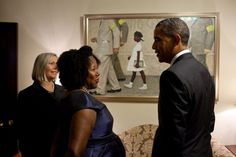 """Bridges with President Obama and the Norman Rockwell painting that depicts her history."""
