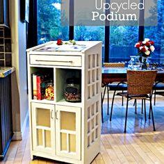 Hometalk :: Kitchen Station | Refinished Podium