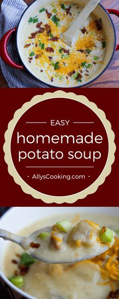 30-minute homemade baked potato soup via @Ally's Cooking