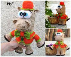 Amigurumi Pattern  Gentleman Hippo. by LilikSha on Etsy