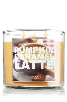 Pumpkin Caramel Latte 14.5 oz. 3-Wick Candle - Slatkin & Co. - Bath & Body Works
