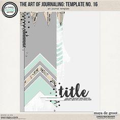 The Art of Journaling: Template no. 16 by Maya de Groot