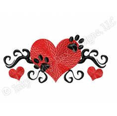 dog paw embroidery pattern - Google Search