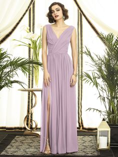 The BS are picking their own long dress in this color and fabric. It's called Suede rose and it's between a lilac and a light pink/gray Style 2894 in Suede Rose | Dessy