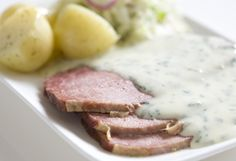 Delicious slow cooked corned beef. Goes really well with caramelised onions!