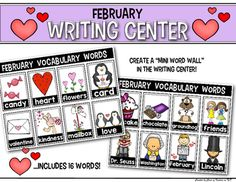 Word Wall {Interactive} pictures/words for Kindergarten and FIrst Grade. Perfect for the Writing Center in your classroom! $