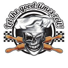 Baker Skull 2: Let the good times roll! Available on T-shirts, hoodies, stickers, phone cases and more, at RedBubble! Aprons, hats, mugs, and more are available at www.zazzle.com/whiskybusiness. For custom requests, e-mail sdesiata@yahoo.com
